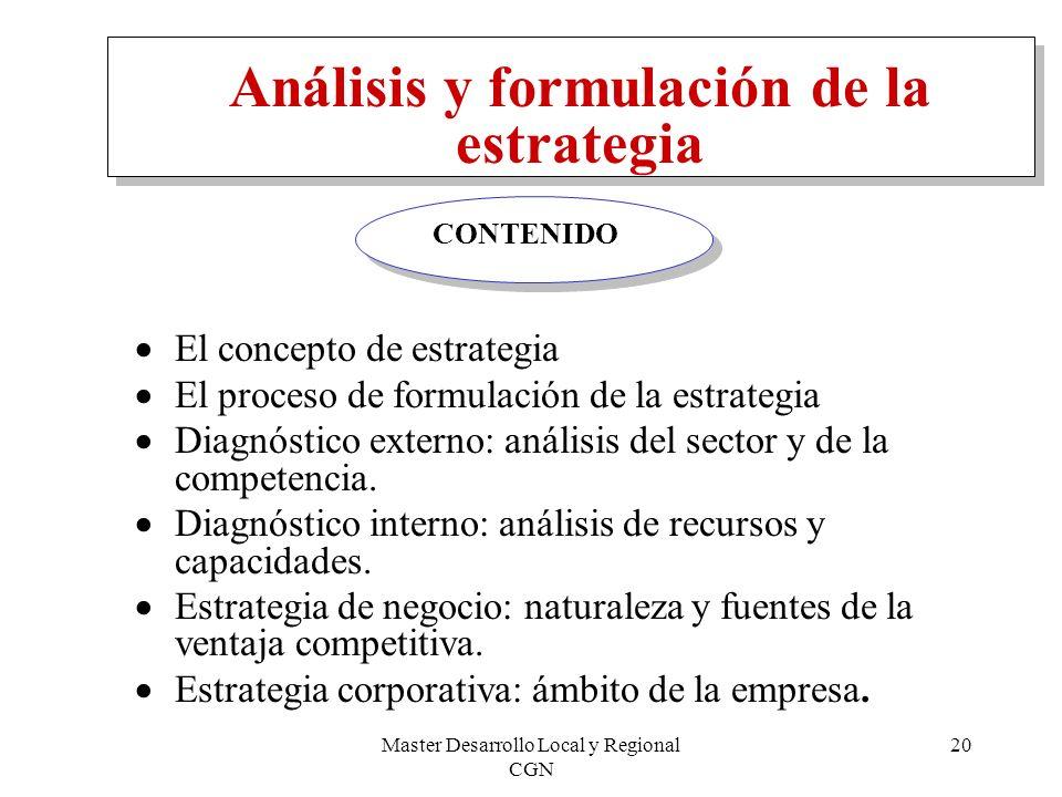 Análisis y formulación de la estrategia