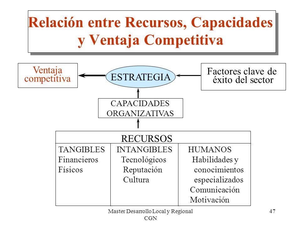 Relación entre Recursos, Capacidades y Ventaja Competitiva