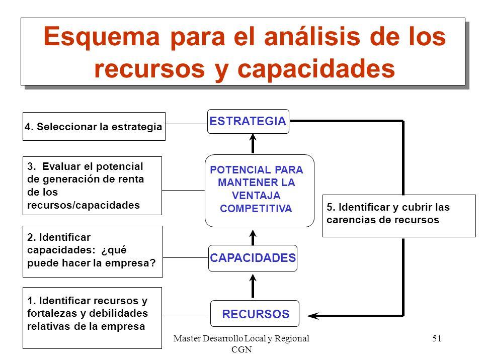 Esquema para el análisis de los recursos y capacidades