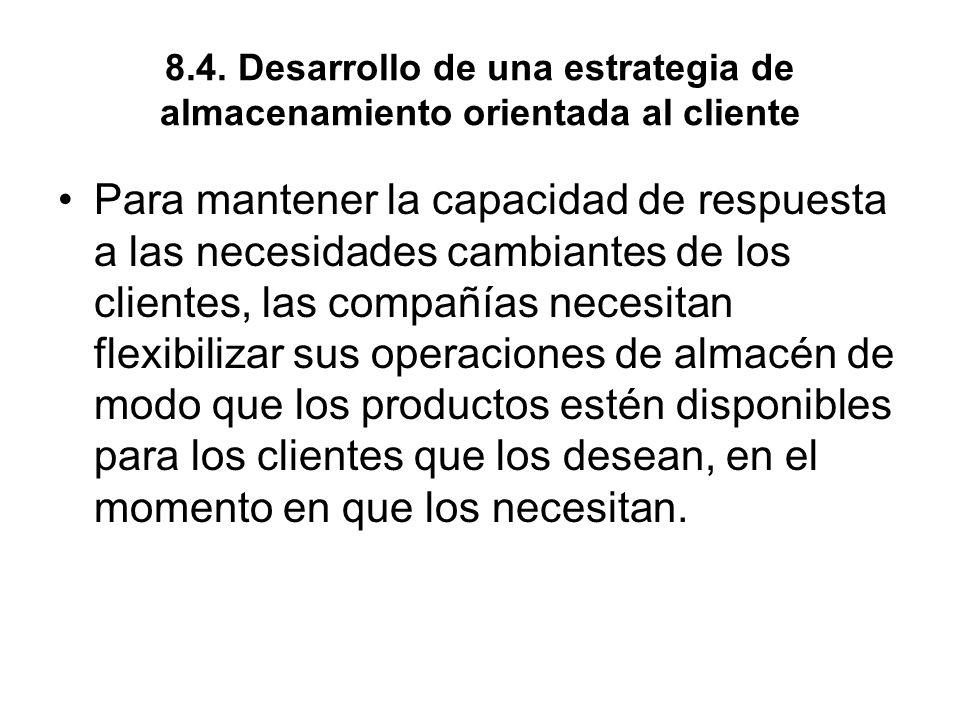 8.4. Desarrollo de una estrategia de almacenamiento orientada al cliente