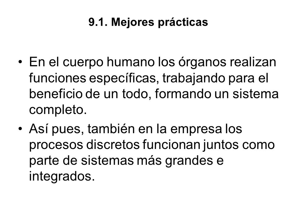 9.1. Mejores prácticas