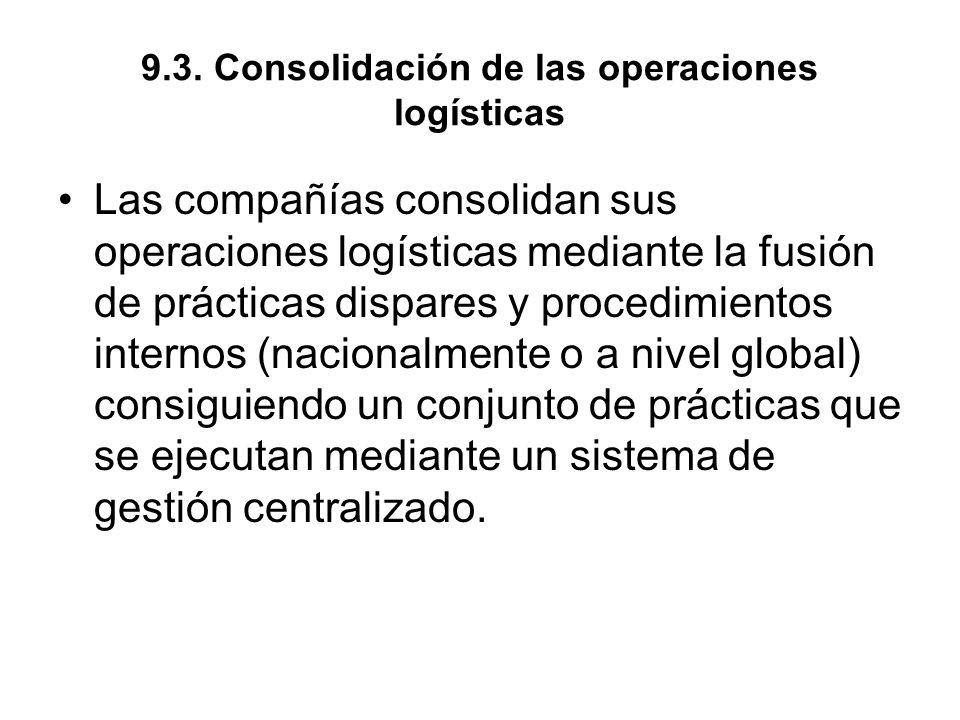 9.3. Consolidación de las operaciones logísticas