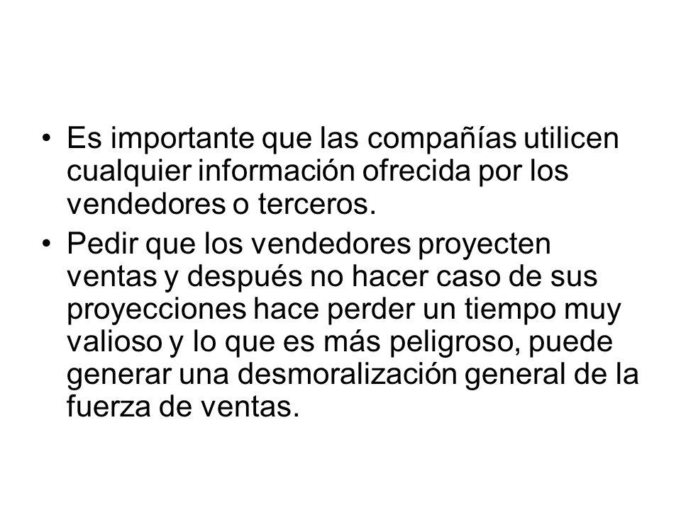 Es importante que las compañías utilicen cualquier información ofrecida por los vendedores o terceros.
