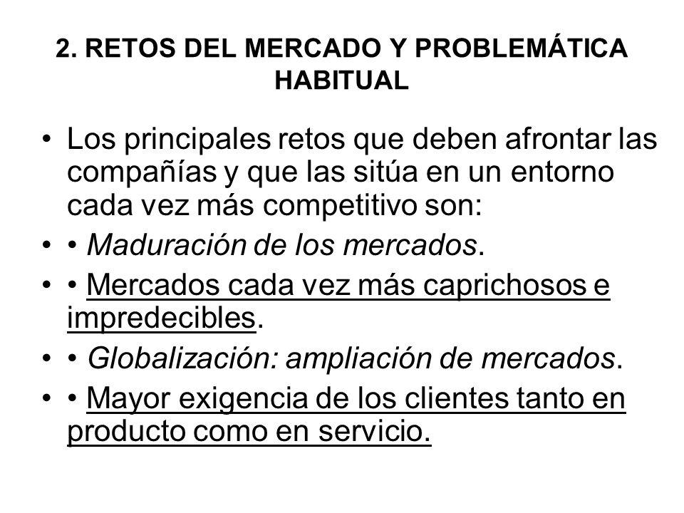 2. RETOS DEL MERCADO Y PROBLEMÁTICA HABITUAL