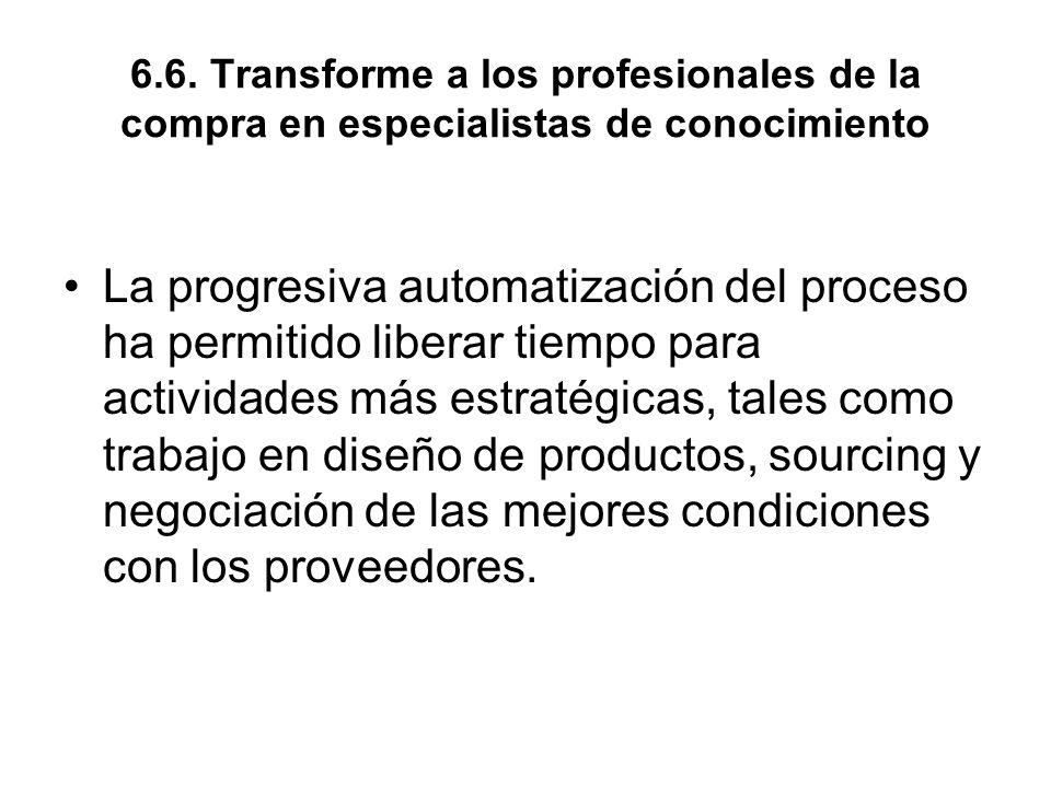 6.6. Transforme a los profesionales de la compra en especialistas de conocimiento
