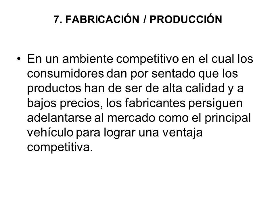 7. FABRICACIÓN / PRODUCCIÓN