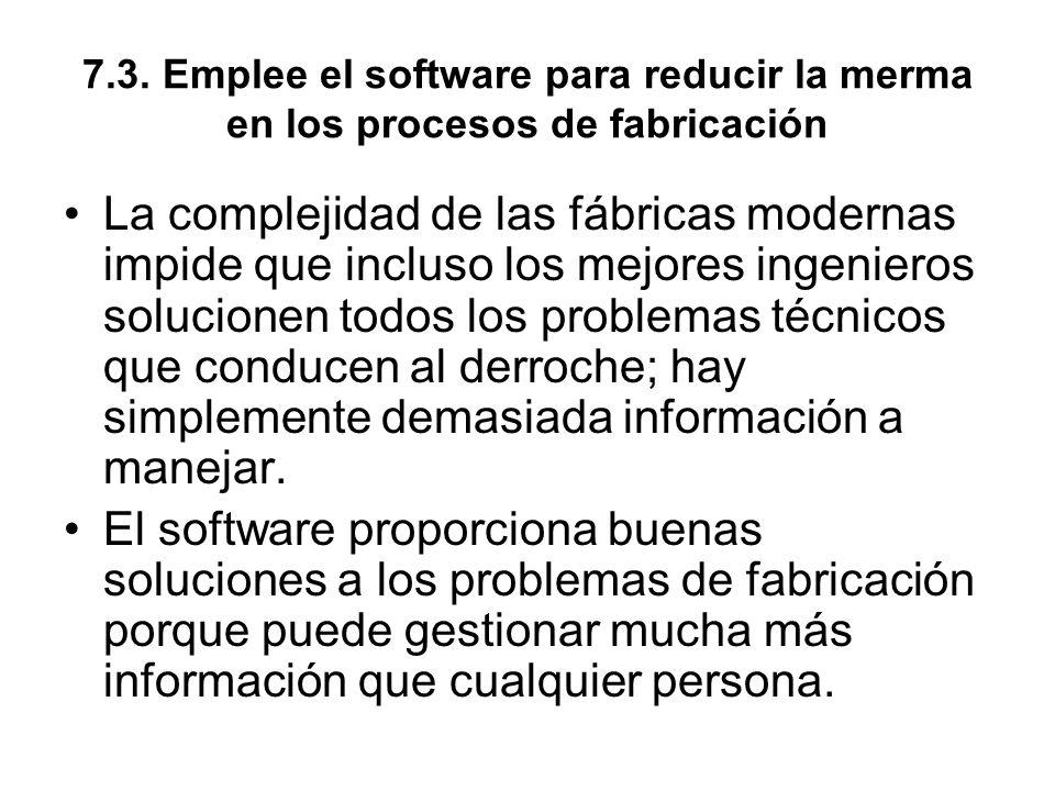 7.3. Emplee el software para reducir la merma en los procesos de fabricación