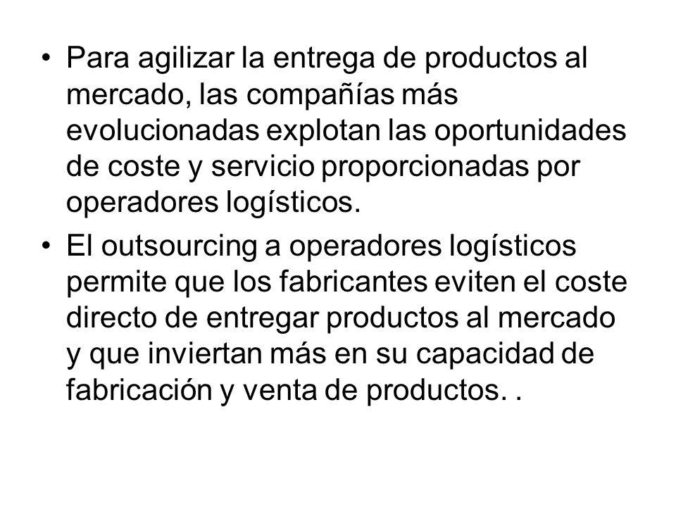 Para agilizar la entrega de productos al mercado, las compañías más evolucionadas explotan las oportunidades de coste y servicio proporcionadas por operadores logísticos.