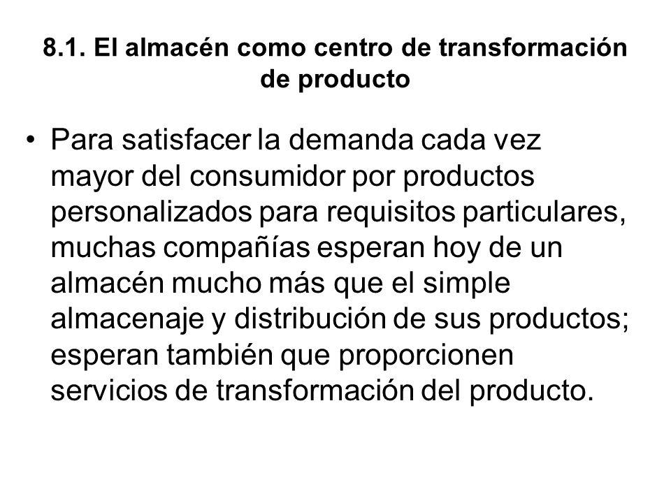 8.1. El almacén como centro de transformación de producto