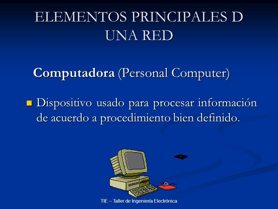 ELEMENTOS PRINCIPALES D UNA RED