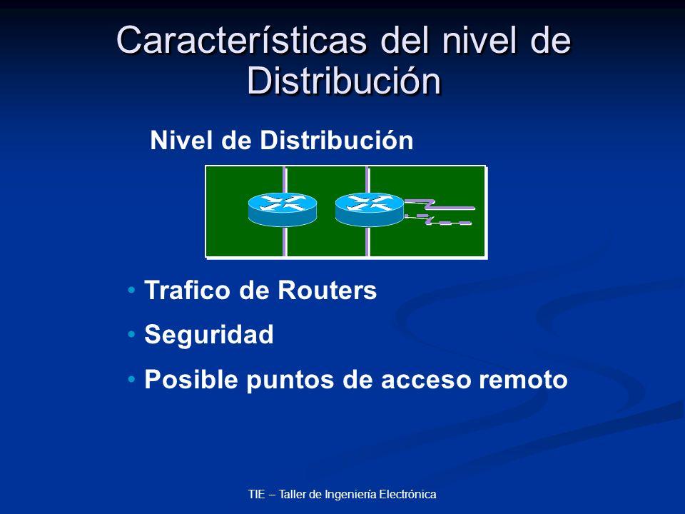 Características del nivel de Distribución