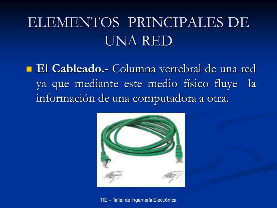 ELEMENTOS PRINCIPALES DE UNA RED