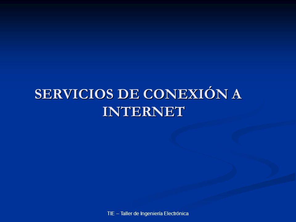 SERVICIOS DE CONEXIÓN A INTERNET