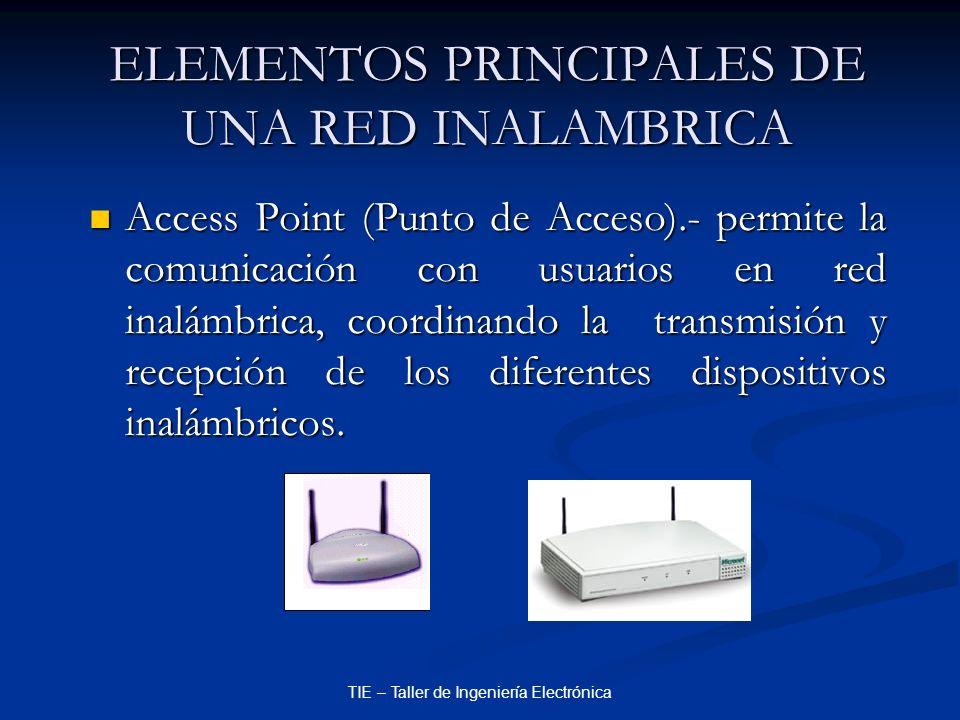 ELEMENTOS PRINCIPALES DE UNA RED INALAMBRICA