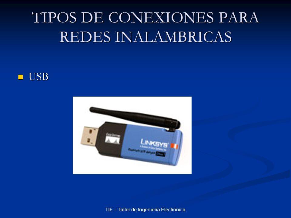 TIPOS DE CONEXIONES PARA REDES INALAMBRICAS