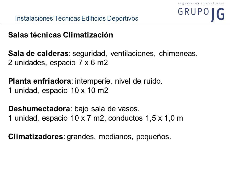 Salas técnicas Climatización
