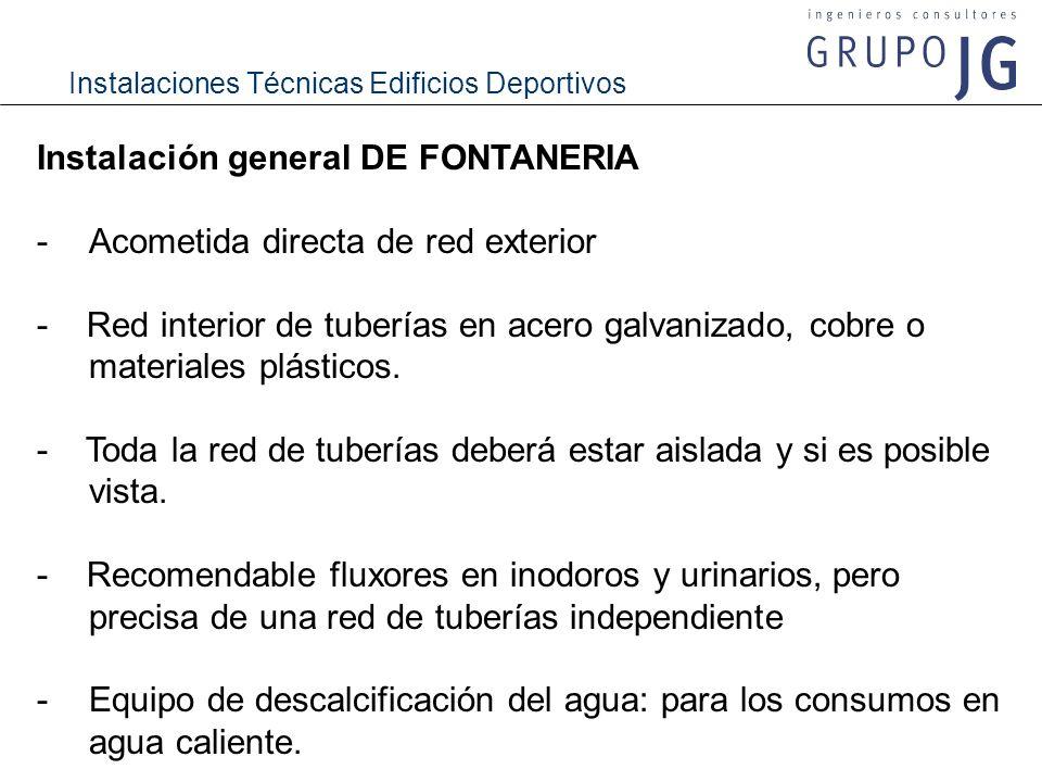 Instalación general DE FONTANERIA