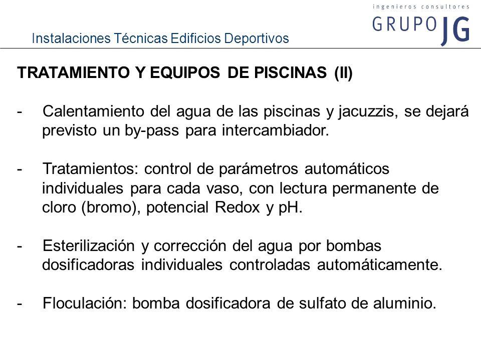 TRATAMIENTO Y EQUIPOS DE PISCINAS (II)
