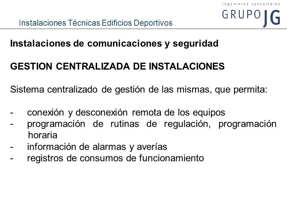 Instalaciones de comunicaciones y seguridad
