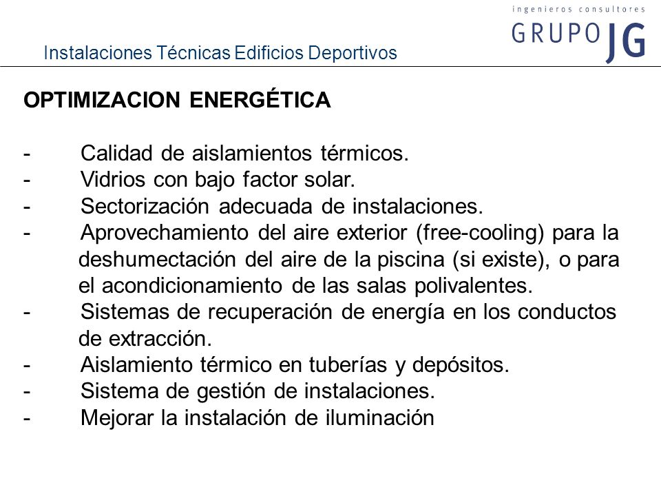 OPTIMIZACION ENERGÉTICA