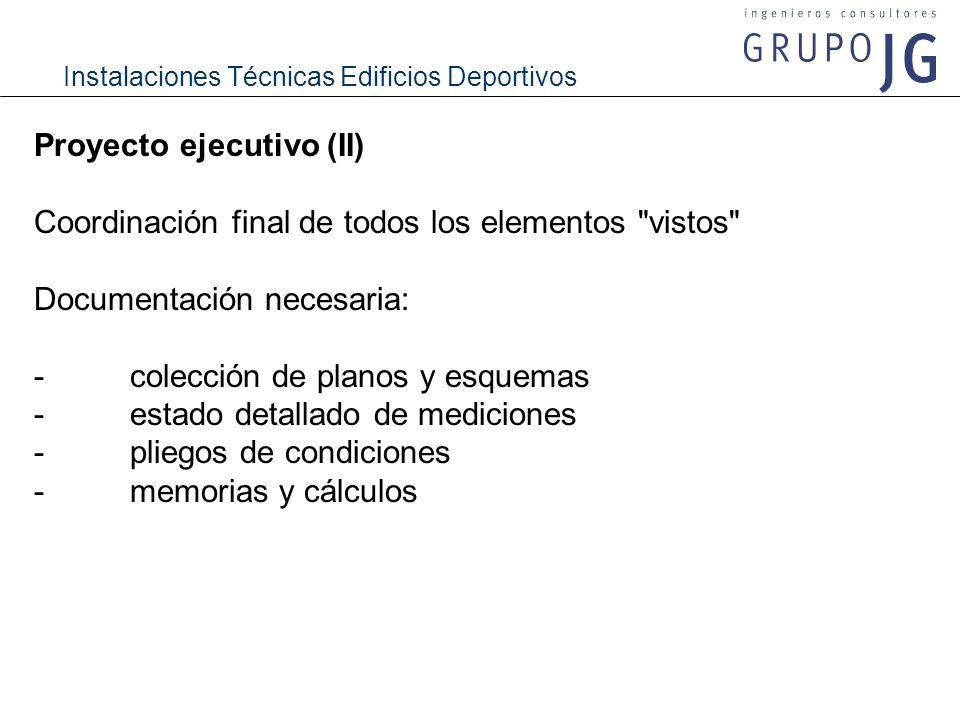 Proyecto ejecutivo (II)