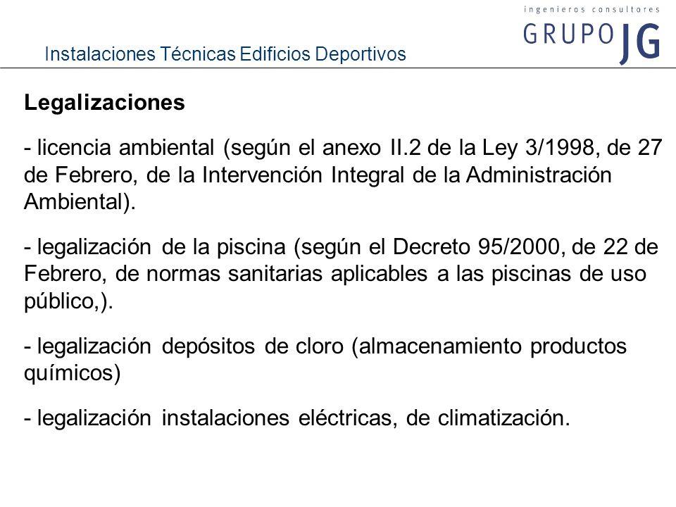 - legalización depósitos de cloro (almacenamiento productos químicos)