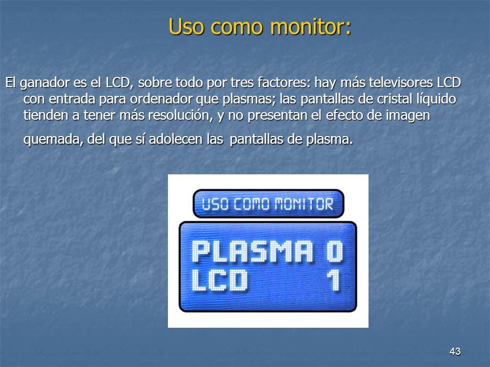 Uso como monitor: