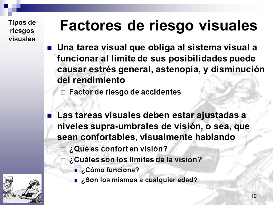 Factores de riesgo visuales