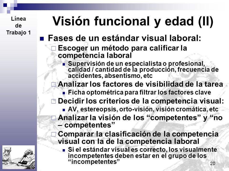 Visión funcional y edad (II)