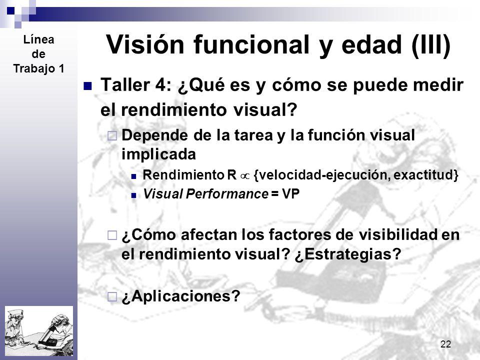 Visión funcional y edad (III)