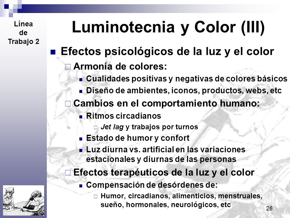 Luminotecnia y Color (III)