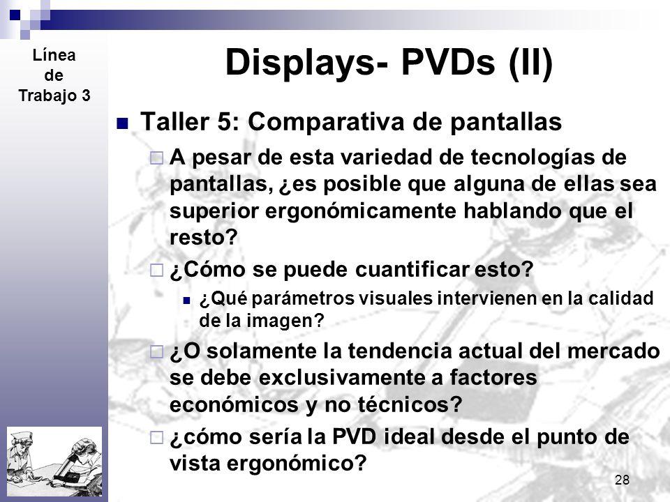 Displays- PVDs (II) Taller 5: Comparativa de pantallas