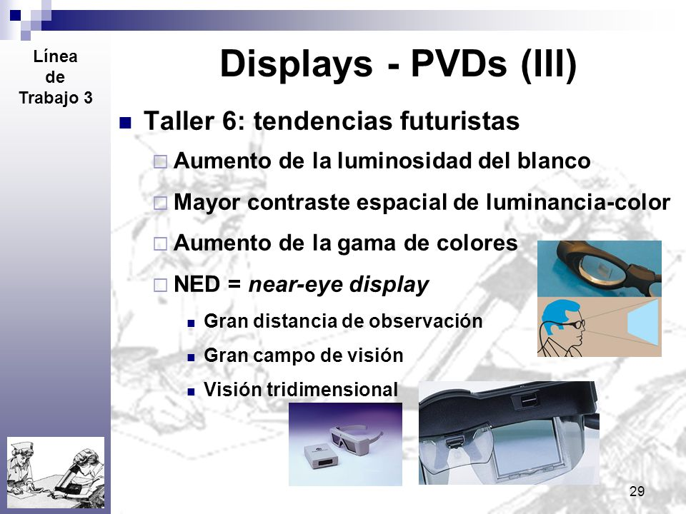 Displays - PVDs (III) Taller 6: tendencias futuristas