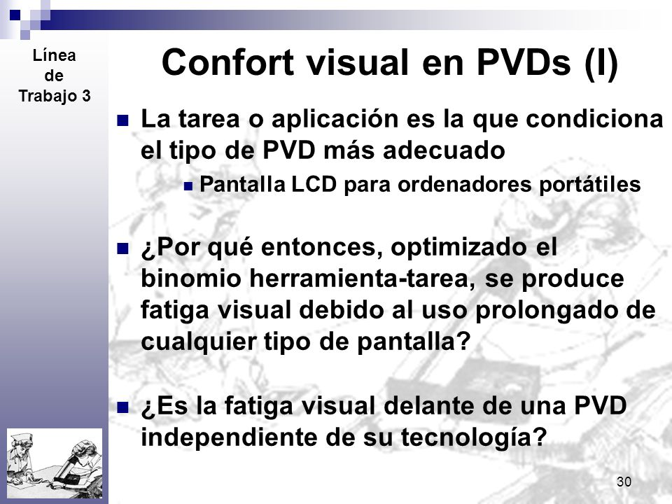 Confort visual en PVDs (I)