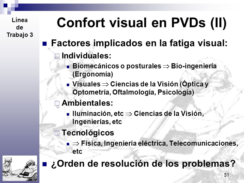 Confort visual en PVDs (II)