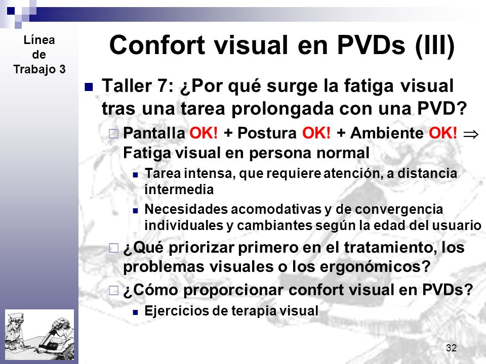 Confort visual en PVDs (III)