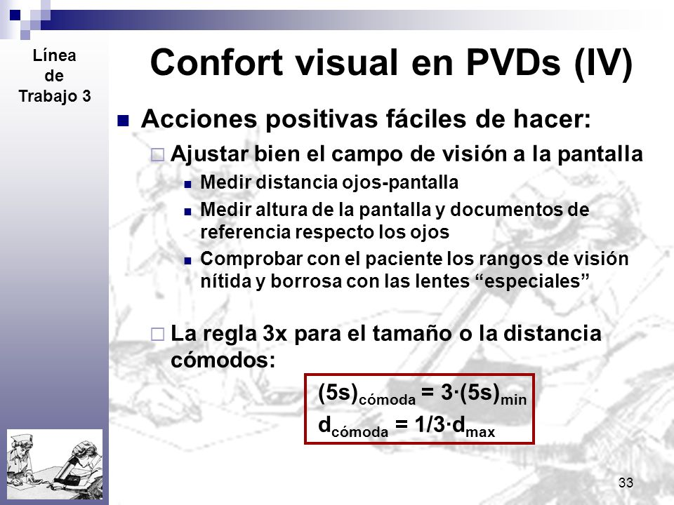 Confort visual en PVDs (IV)