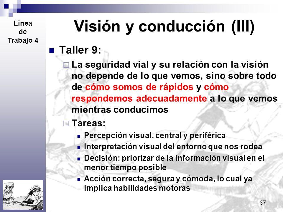 Visión y conducción (III)