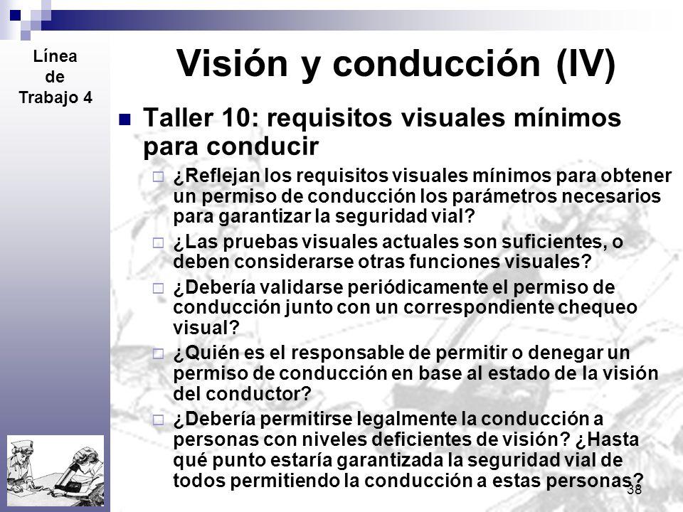 Visión y conducción (IV)