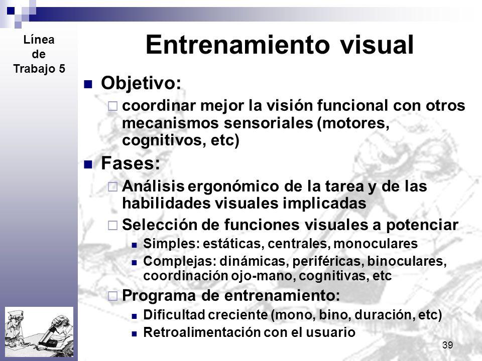 Entrenamiento visual Objetivo: Fases: