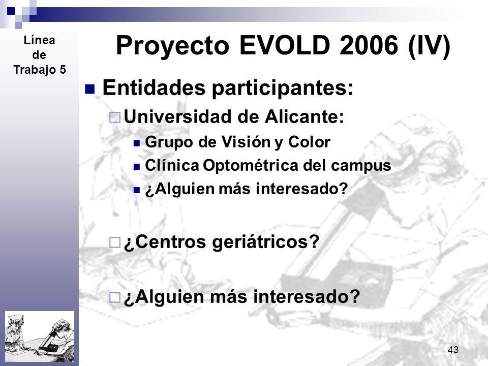 Proyecto EVOLD 2006 (IV) Entidades participantes: