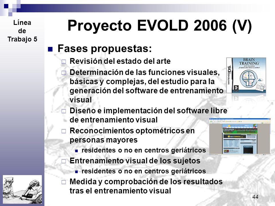 Proyecto EVOLD 2006 (V) Fases propuestas: Revisión del estado del arte