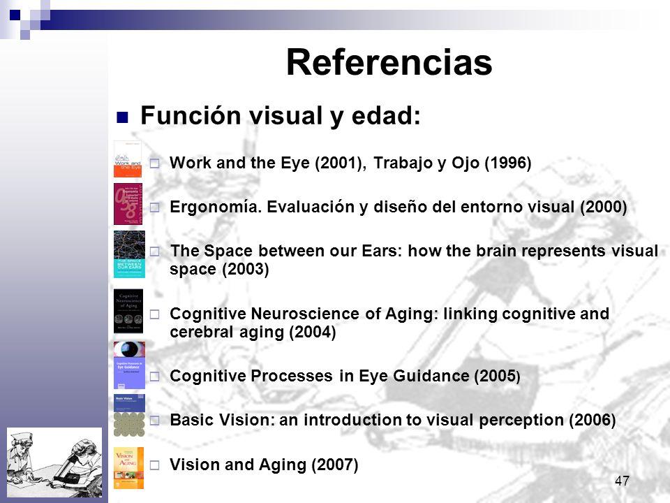Referencias Función visual y edad:
