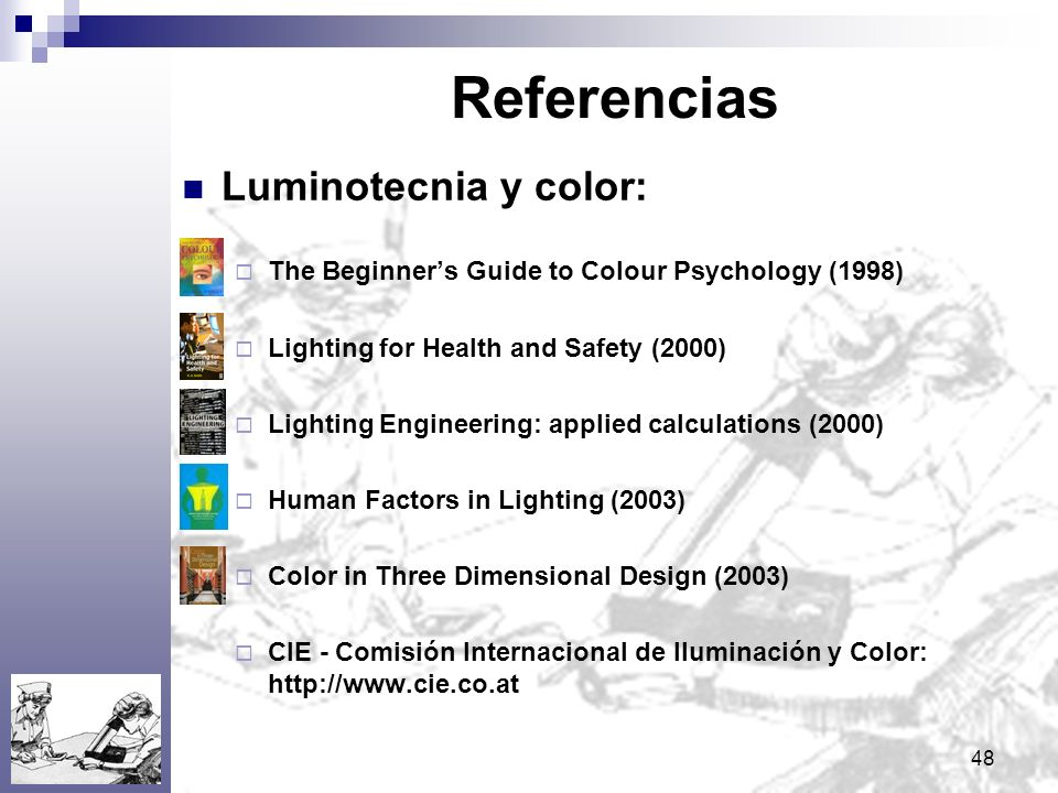 Referencias Luminotecnia y color:
