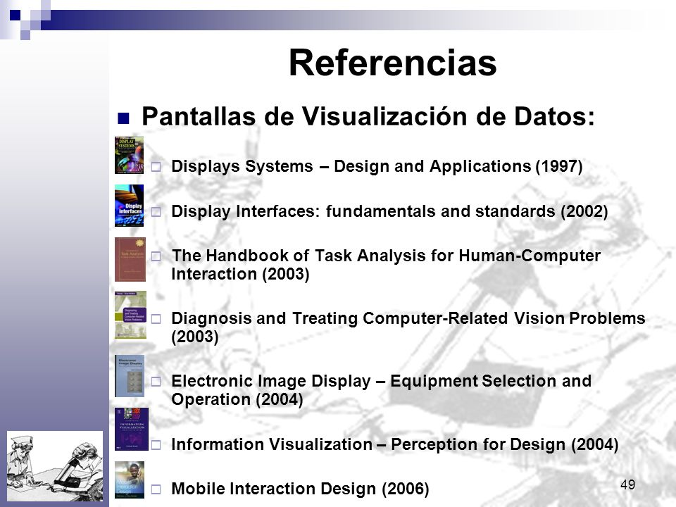 Referencias Pantallas de Visualización de Datos: