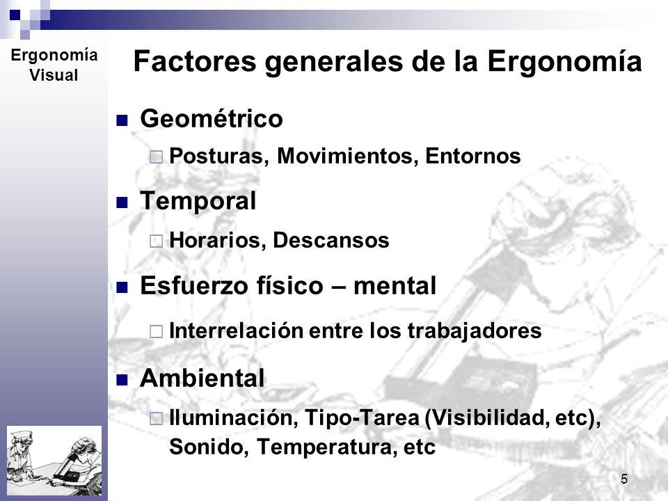 Factores generales de la Ergonomía