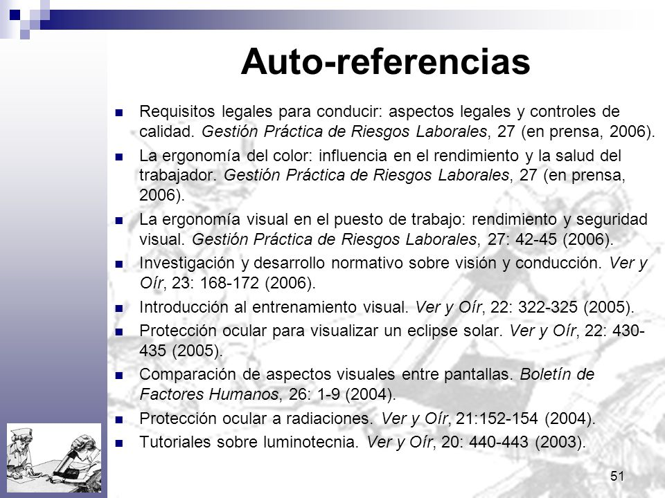 Auto-referencias
