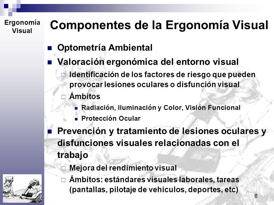 Componentes de la Ergonomía Visual