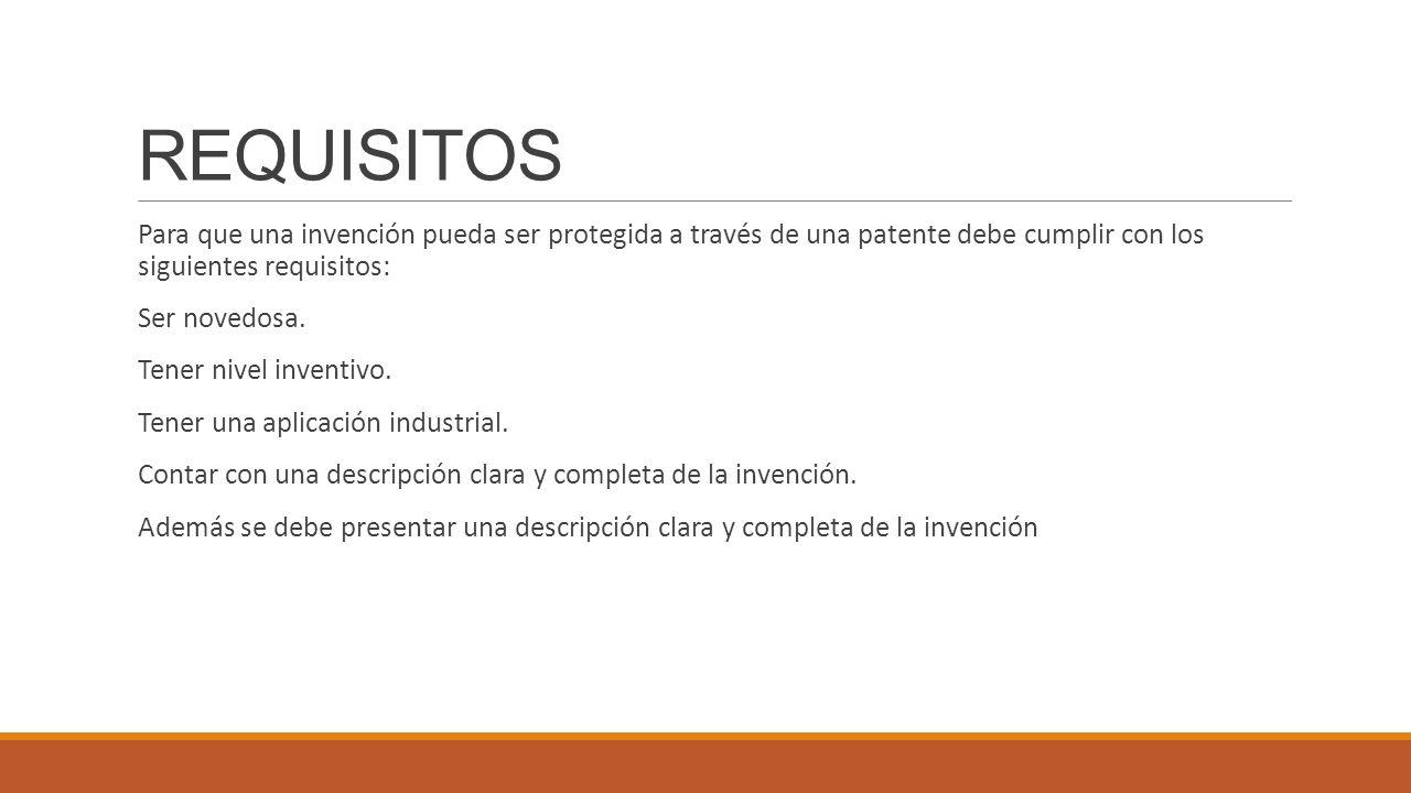 Patente y sus tipos contabilidad iii ppt video online for Que tipo de espacio debe tener una oficina