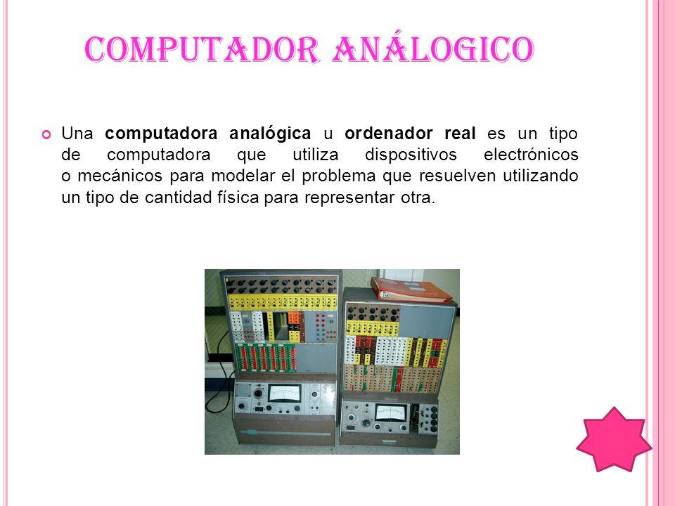 COMPUTADOR ANÁLOGICO